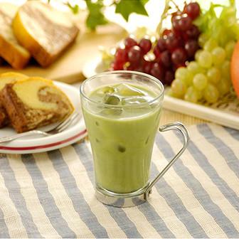 抹茶大好き【抹茶ミルクハイ】 ガムシロップで甘み足しても美味しい