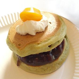 抹茶ふんわり香る【抹茶パンケーキ】 ホットケーキを楽しくアレンジ